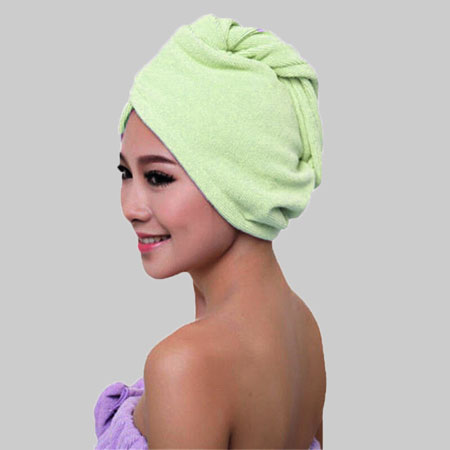 Wrap the wet hair with a towel.